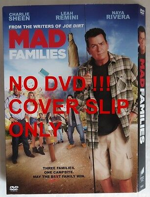 No Discs !! Mad Families Dvd Cover Slip Only - No Discs !!      (Inv13609)