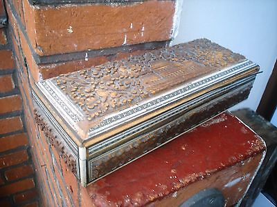 Beautiful Detailed Old Wooden Box
