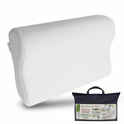 My Stunning Abode Memory Foam Neck Pillow with Contoured Support, Medium - NEW