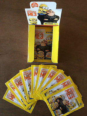 Topps Despicable Me 3 Stickers: quantity: 10 25 50 packets or Box