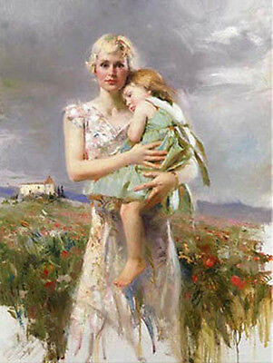 Pino Daeni Hand painted Portrait oil Painting On Canvas No Frame 36