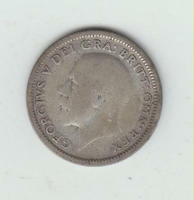 1926 George V Silver (.500) Sixpence, VG