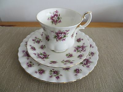 Royal Albert 'Sweet Violets' Cup, Saucer and Plate