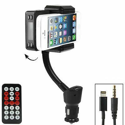Transmetteur FM iPhone 5 kit mains libres support voiture Micro SD 16Go