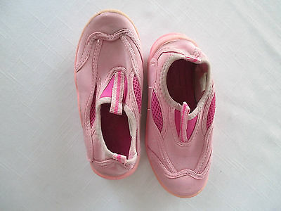 Pink Watershoes Young Girl's Size 12  Surf Bay Brand  Good Used Condition!