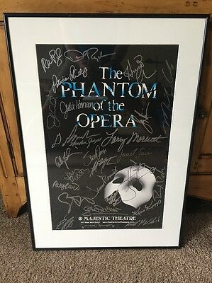 The Phantom Of The Opera Signed Autographed Poster Majestic Theater