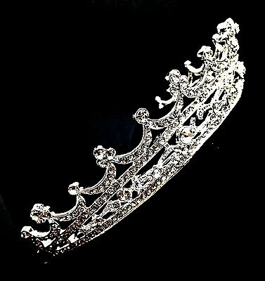 Silver Bridal Pageant Wedding Prom Crystal Princess Crown Tiara Headpiece A23