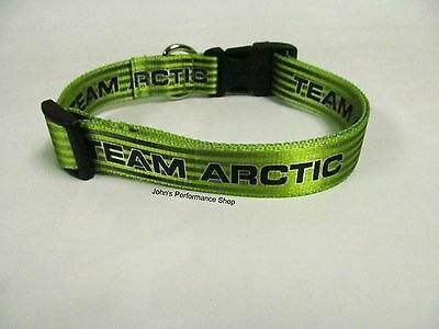 Team Arctic Cat Logo Lime and Black Adjustable Pet Collar Dog Collar 5273-043