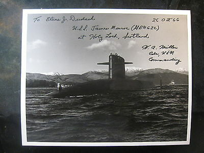 Vintage US Navy 8 x 10 Photo USS Sub Ron 14 Signed By Commanding Officer 1009