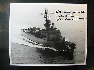 Vintage US Navy 8 x 10 Photo USS O'Callahan Signed By Commanding Officer 1011