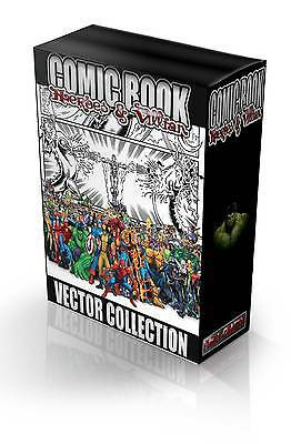 Marvel Heroes and Villians Vector Images Collection Eps , Clip Art , Plotter.