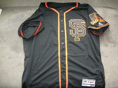San Francisco Giants Bumgarner Black Home Jersey 44 L