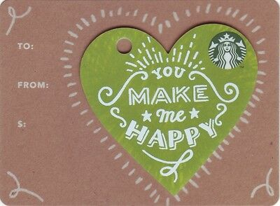 "STARBUCKS CARD aus Deutschland / from Germany 2017 ""You make me happy"""
