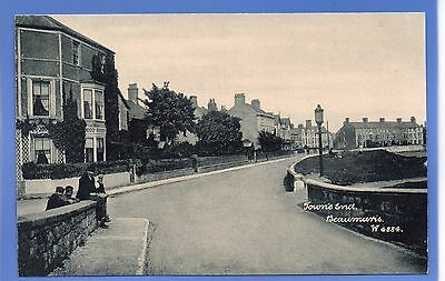 SUPERB 1912c TOWN'S END BEAUMARIS ANGLESEY WALES WYNDHAM VINTAGE POSTCARD