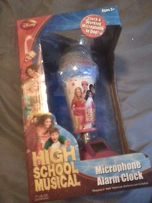 Disney High School Musical real working Microphone Alarm Clock Brand new in BOX
