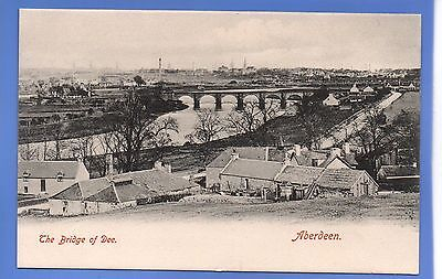 SUPER 1912c VIEW OF THE BRIDGE OF DEE ABERDEEN SCOTLAND VINTAGE POSTCARD
