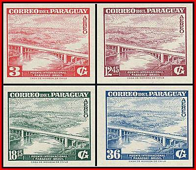 PARAGUAY 1961 BRIDGE to BRAZIL imperforated MNH ARCHITECTURE