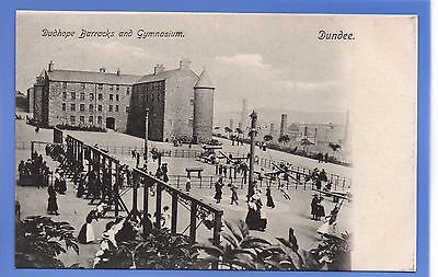 SUPER 1912c DUDHOPE BARRACKS & GYMNASIUM DUNDEE SCOTLAND VINTAGE POSTCARD