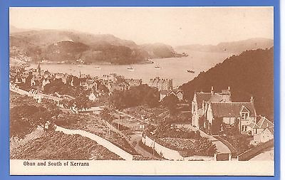 SUPERB 1912c OBAN & SOUTH OF KERRARA ARGYLL SCOTLAND VINTAGE POSTCARD