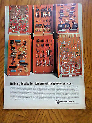 1965 Bell Telephone Western Electric Ad Electronic Switching System ESS