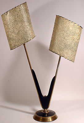 SUPERB Vtg 1950s Mid SPACE Age ATOMIC Retro MAJESTIC Table LAMP