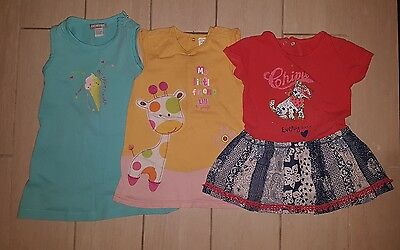 lot 3 robes fille 18 mois TBE orchestra chipie