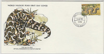 World Wildlife Fund First Day Cover - Lesotho - No 121 - The Puff Adder
