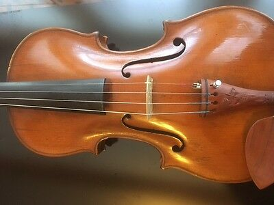 Fine violin c1790, prob. Italian, signed inside on rib (look on photo)