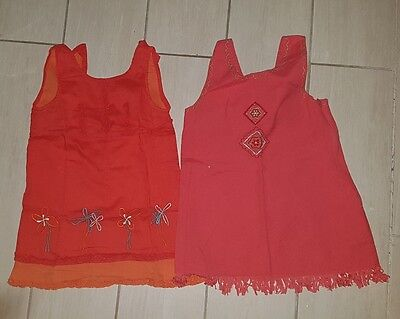lot 2 robes fille 18 mois TBE