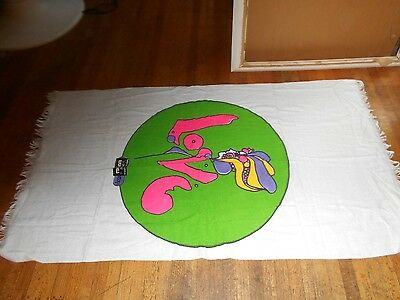 "peter max beach towel  love 59""x34""new old stock with tag"