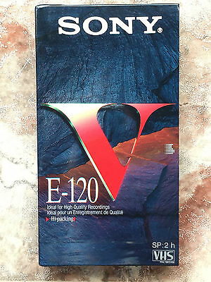 SONY VHS VIDEO CASSETTE Blank Still Sealed cinta tape virgen