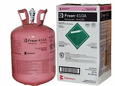 R410a, R-410a Refrigerant 25 lb. tank, Chemours, USA Sealed Free Delivery