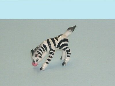 "Vintage Zebra Playful Foal porcelain 3"" figure Excellent"
