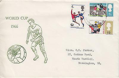 GB 1966 World Cup, Very Scarce Holmes Tolley illustrated FDC