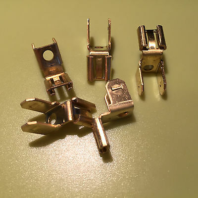 """Spade Terminal Dual Circuit Tap   1/4""""  Wire Connector Offset Adapter Lot Of 5"""