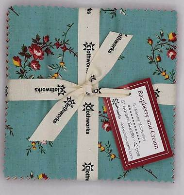 Patchwork/quilting Fabric Layer Cake - Clothworks Raspberry & Cream X 42- 1 Only