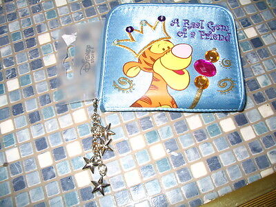 Disney Store Tigger Metallic Blue Crown Gem Of A Friend Purse New! Very Rare