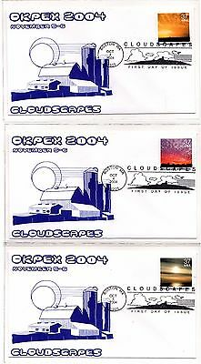 2004 Cloudscapes FDC Set Complete (15) for OKPEX 2004 Event - very Clean