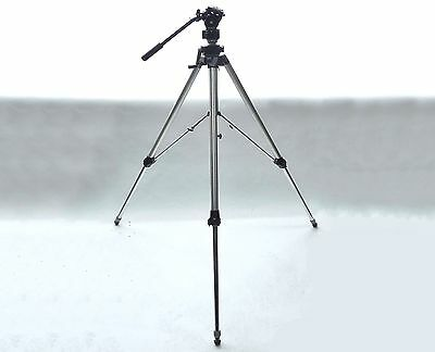 Bogen Manfrotto Heavy Duty Professional Video Tripod 3051 3063 136 Fluid Head