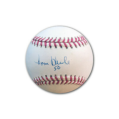 Tom Henke 1992 Autographed World Series Baseball