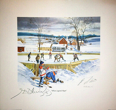 Where Legends Begin Lithograph - Autographed by Henri Richard and Guy Lafleur