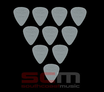 "10 X .38mm NYLON ""GREY"" PLECTRUMS GUITAR PICK by JIM DUNLOP 10 x PLECTRUM"