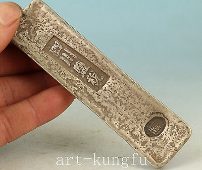 Chinese Old Copper Bar Qing Dynastysichuan Word Coins Statue Art