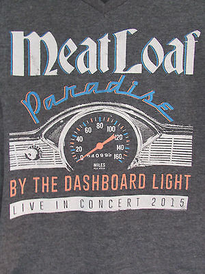 Meat Loaf MeatLoaf Paradise By the Dashboard Light Concert 2015 Shirt Ladies S