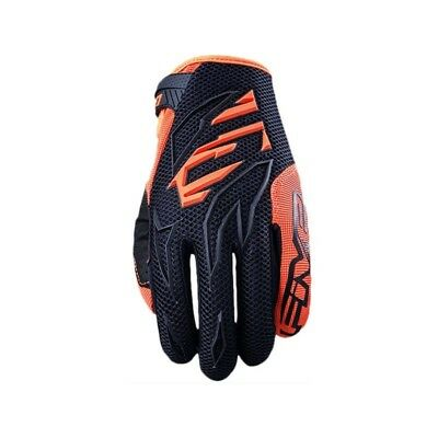 Five Mxf Prorider Black Fluro Orange Motocross Mx Gloves