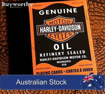 Harley Davidson Oil Playing Cards Motorcycles Refinery Sealed Deck Made in USA