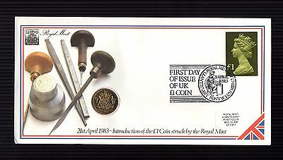 1983: Uk £1 Coin First Day Of Issue Royal Mint Pnc - Scarce