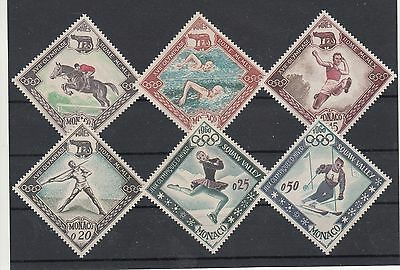 Monaco: 1960 Olympics set of 6 stamps. SG692/697. MUH/MNH. Going cheap