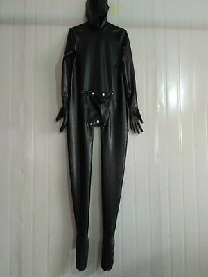 Latex Rubber Gummi Black MASK Catsuit Suit Fashion Full-body Tailored XS-XXL