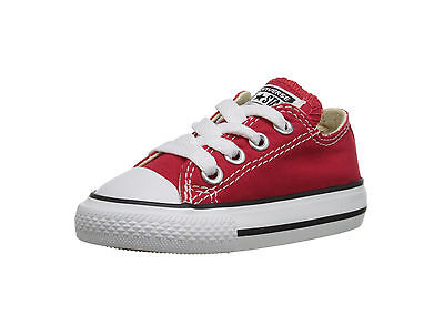 Converse All Star Babies Toddlers Girls Boys Canvas Shoes Red Low Top Baby